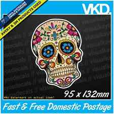 Sugar Skull 029 Sticker/ Decal - Candy Tattoo Vintage Vinyl Laptop Window Retro