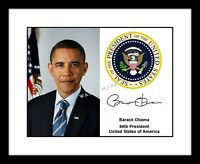 Barack Obama Signed 8x10 Photo Print Presidential Seal Autographed US President