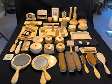 60+ piece Antique Celluloid Vanity Accessories Collection