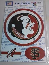 "NCAA FLORIDA STATE SEMINOLES MAGNETS 10 1/2"" & TWO 4 1/2"" X 3"" BRAND NEW NICE !"