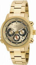 Invicta Specialty 19240 Men's Round Gold Tone Analog Chronograph Date Watch