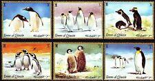 Umm al qiwain 1972 ** mi.630/35 a Antártida pingüinos Antarctic penguins