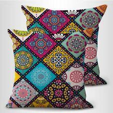 set of 2 pillowcase bedding retro boho mandalas wholeness pecfection