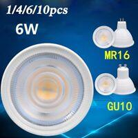 1-10PC GU10 220V 6W LED Globe Bulb Light Spotlight Lamp DownLight 650LM MR16 12V