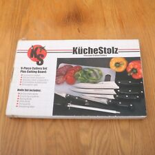 KucheStolz 6 Piece Knife Set & Cutting Board In Original Box