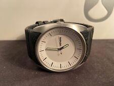 Nixon The Esquire Leather Watch Black/White
