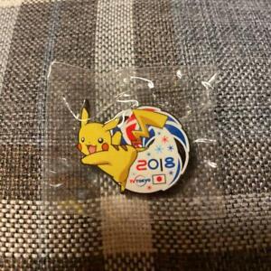 2018 Pyeongchang Olympics Memorial TV TOKYO Media Pin Badge Pikachu Pokémon