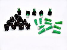 "15 Green Lights Bulbs LEDs 3/8"" Sockets Instrument Panel Dashboard For Imports"