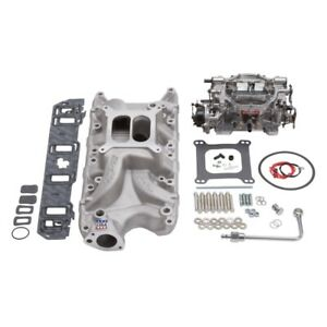 Edelbrock Manifold And Carb Kit Performer RPM Small Block for Ford 289-302 Natur