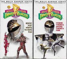 MMPR Mighty Morphin' Power Rangers White Ranger Series VHS lot of 2 Saban 1995