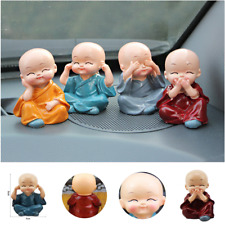 Car Office Home Decoration Four Little Monk Cute Doll Car Interior Accessories