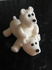 Edible Christmas Polar Bear Sat On Back  Cake Topper Icing Decoration