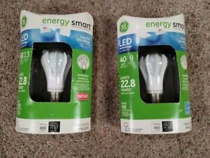 Lot of 2 GE Lighting Energy Smart LED Bulbs (64128, 64130)