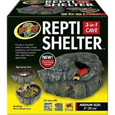 zoo med reptile shelter 3 in 1 cave, medium