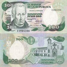 Colombie - Colombia billet neuf de 200 pesos oro pick 429 UNC