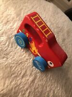 Hamleys Wooden Red Toy Fire engine British Wooden Chunky My First  C