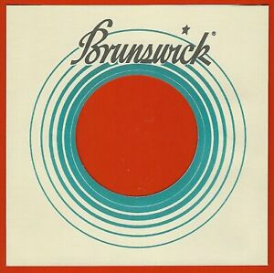 BRUNSWICK (blue/cream/black) REPRODUCTION RECORD COMPANY SLEEVES - (pack of 10)