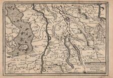"""La Haute Gueldres…"". Geldern Venlo Roermond Rheinberg Meuse. DE FER 1705 map"