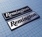REMINGTON - firearms rifle revolver - Metallic Sticker Badge Logo - 2 pieces