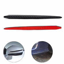 2x Black Car Bumper Door Side Mirror Protector Strip Scuff Guard Sticker Carbon