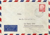 1956 Germany Air Mail Cover to Buenos Aires Argentina