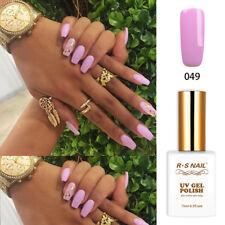 RS Nail UV LED Gel Nail Polish Sequined Varnish Soak Off UV Gel Purple Colour