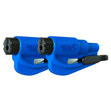 2 Pack New Resqme Escape Tools seatbelt cutter glass breaker Safety Blue