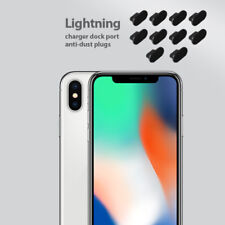 iPhone X Charging Port Cover Lightning Plug Set 10 Pack Anti Dust Silicone Cap