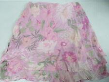 RALPH LAUREN Silk Chiffon Mini Tier Floral print Zipper A-line Skirt 12