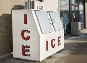 RETAIL ICE BOX ~ ICE COOLER MACHINE - O Scale 1:48 - LEER  POLAR Bag Chest Block
