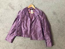 PHILIPPE ADEC Dress Jacket sz 6 100% SILK Purple Lavender Lined Wedding Formal