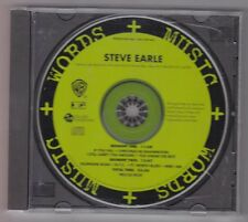 Steve Earle - Words + Music  - CD Radio Promo - E Squared Pro-CD-9029 Interview