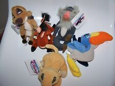 VINTAGE DISNEY BEAN BAG PLUSH LOT 5 FROM THE LION KING