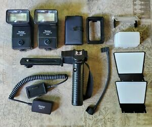 TWO (2) VIVITAR ZOOM 3500 FLASHES + ACCESSORIES - SEE PHOTOS AND DESCRIPTION !!!