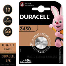 Duracell 1X CR2450 3V Lithium Coin Cell Battery 2450 DL2450 K2450L Long Expiry