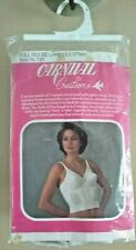 Carnival Creations Women's Full Figure 40B White Camisole Strap Style #720- New.