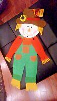 "20"" x 6"" Felt Halloween Colorful Fall Autumn Scarecrow Man  Door Decoration"