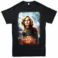 Captain Marvel T-Shirt Avengers Superhero Comic Top Unisex Men Women Kid Tee Top