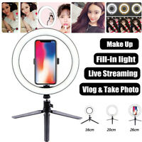 10 Inch LED Ring Light Lamp Phone Selfie Camera Photo Dimmable Tripod Stand