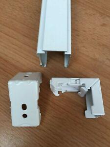Roman Blind  fixing brackets x 2  to fit 21mm head rail