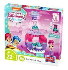 Mega Bloks Shimmer and Shine Tea Party Palace Genie Bottle Building Set 22 Piece