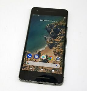 Google Pixel 2 64GB Black Broken Back Does not Hold Charge Smartphone with Burn