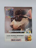 RARE 1988 SPUDS MACKENZIE Bud Light Employee Office Calendar Sales DEPT St Louis
