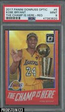 2017-18 Donruss Optic Red The Champ Is Here Kobe Bryant Lakers 38/9 PSA 9 MINT
