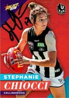 ✺Signed✺ 2018 COLLINGWOOD MAGPIES AFLW Card STEPHANIE CHIOCCI