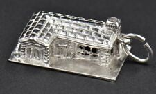 Vintage M&M Ranch Style L House Starter Home Sterling Silver 3D Charm Large 4g