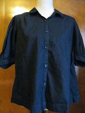 Gap 1969 women's Black 100% Cotton Blouse Size XSmall fits Small NWT