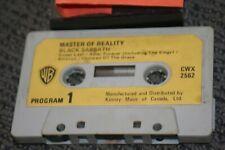 BLACK SABBATH MASTER OF REALITY 1971 METAL ORIGINAL #CWX 2562 PAPER CASSETTE