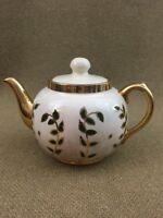 Sudlow' Burslem England 24K Gold Trim Green Ivy Tea pot