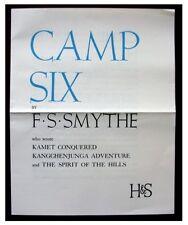1937 Original Prospectus - CAMP SIX - Smythe - MOUNT EVEREST EXPEDITION